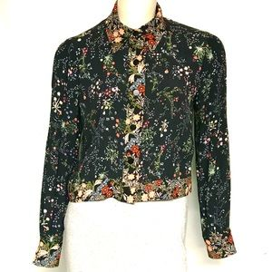 Zara floral snap front top